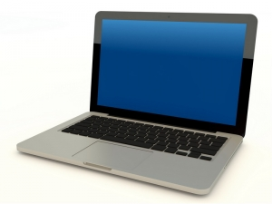 Modern Laptop Computer Isolated
