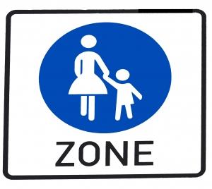 Pedestrian Zone Sign